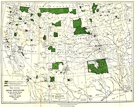 Amazoncom USA WEST Indian reservations population 1883 1942