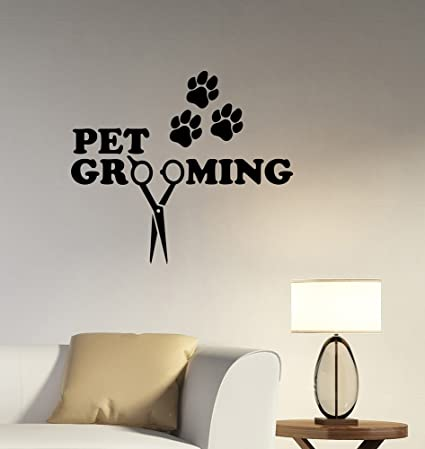 Pet Grooming Removable Vinyl Decal Sticker Art Decorations Dog Cat