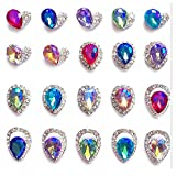 HOYOFO 20 pcs/Set Nail Art Rhinestones 3D Nail Art DIY Decorations Bling Alloy (Colourful)
