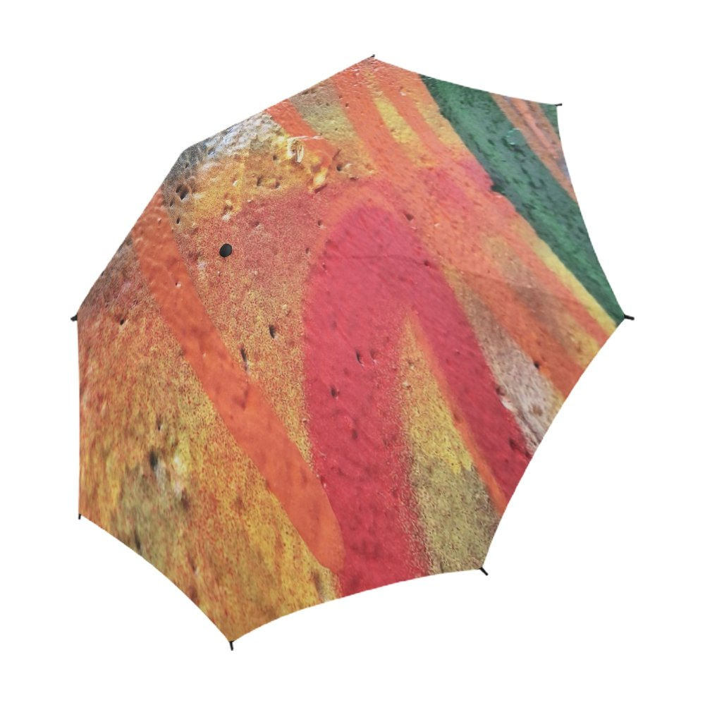 ENEVOTX Graffiti Paint Wall Artistic Graffiti Unique Umbrella Semiautomatic Foldable Umbrella Foldable Travel Rainy Sunny Gift