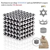 Toys : Magnetic Balls Stanaway DIY Silver Magnetic Ball Toy with 216pcs and 3mm Diameter Puzzle Ball for Intelligence Patience Development and Stress Relief or Decoration