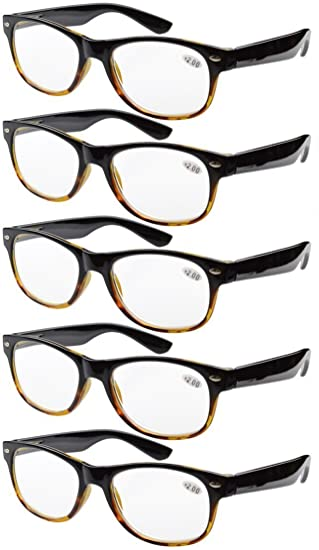 80b5ef48a1d Eyekepper 5-pack Spring Hinges 80 s Reading Glasses +3.50  Amazon.co ...