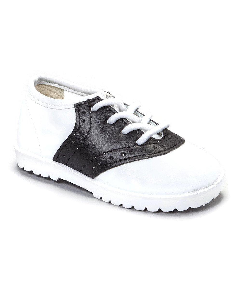 Pitter Patter Childrens Saddle Shoe 4 Colors Available (Infant/Toddler) Black 7 M US Toddler
