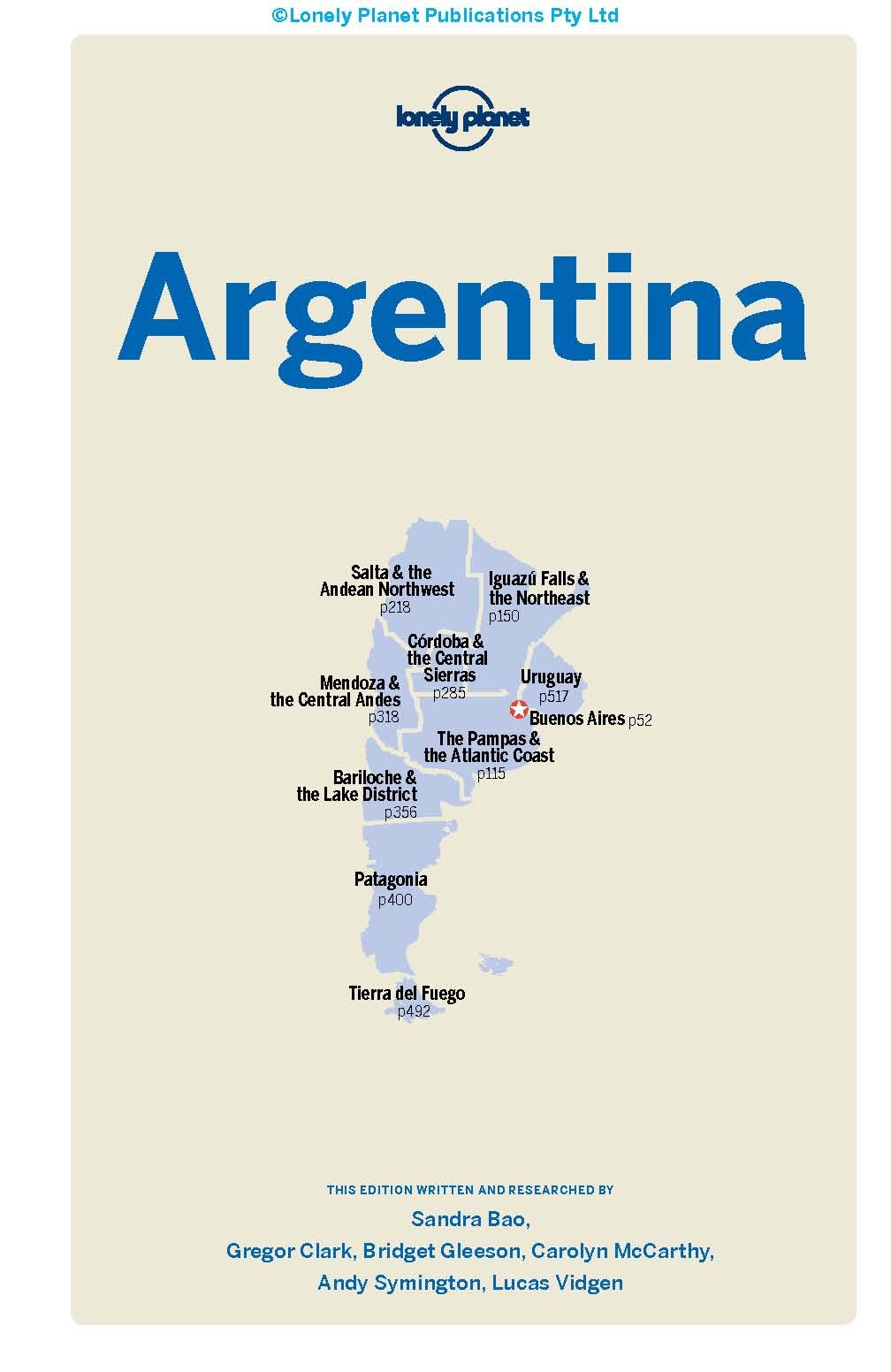 Lonely Planet Argentina Th Ed Th Edition Lonely Planet - Argentina map lonely planet