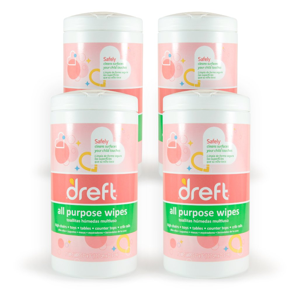 Dreft Multi-Surface All-Purpose Gentle Cleaning Wipes for Baby Toys, Car Seat, High Chair & More Nehemiah Manufacturing