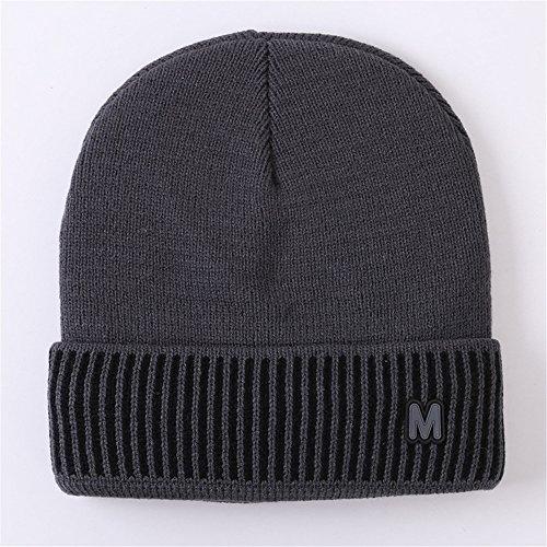 Dark gris invierno hombres caliente auditivos de protectores hombres señoras MASTER beanie de gorros sombreros Navidad Halloween sombreros hombres exterior de Gray invierno gorros tejidas sombreros tejer Los Tw6S4qw