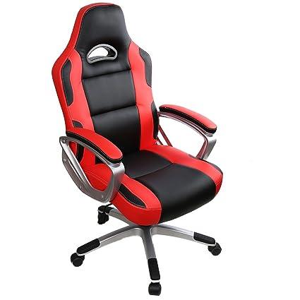 nouvelle arrivee bbeb7 8698d IntimaTe WM Heart Racing Chaise de Gamer Professionnel Siège de Bureau  Fauteuil de Gaming Ergonomique Dossier Haut Inclinable en Similicuir pour  PC ...