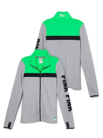 6b7539b20aa9d Image Unavailable. Image not available for. Color: Victoria's Secret Pink  Ultimate Track Jacket ...