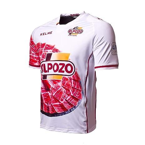 KELME ElPozo Murcia FS Segunda Equipación 2017-2018, Camiseta, Blanco-Rojo,