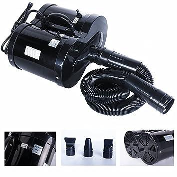 BTM 2800 W x 2 secador de perro perro secadores de pelo Grooming ajustar Loe ruido Coat blowdryer secador de pelo Negro Motor De Dos Velocidades: Amazon.es: ...