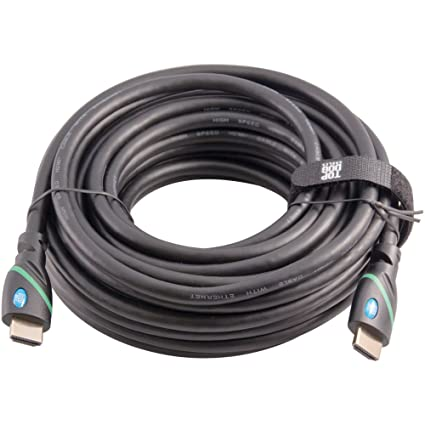 Top Dog Cables - TD-07BKGR35- Premium 35 Foot High Speed HDMI Cable with