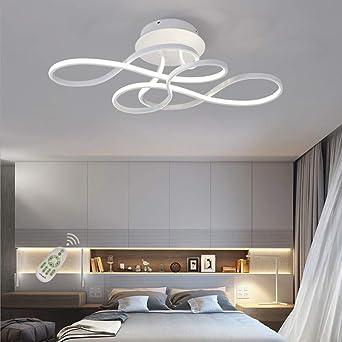Lámpara de salón regulable con mando a distancia LED, lámpara de ...
