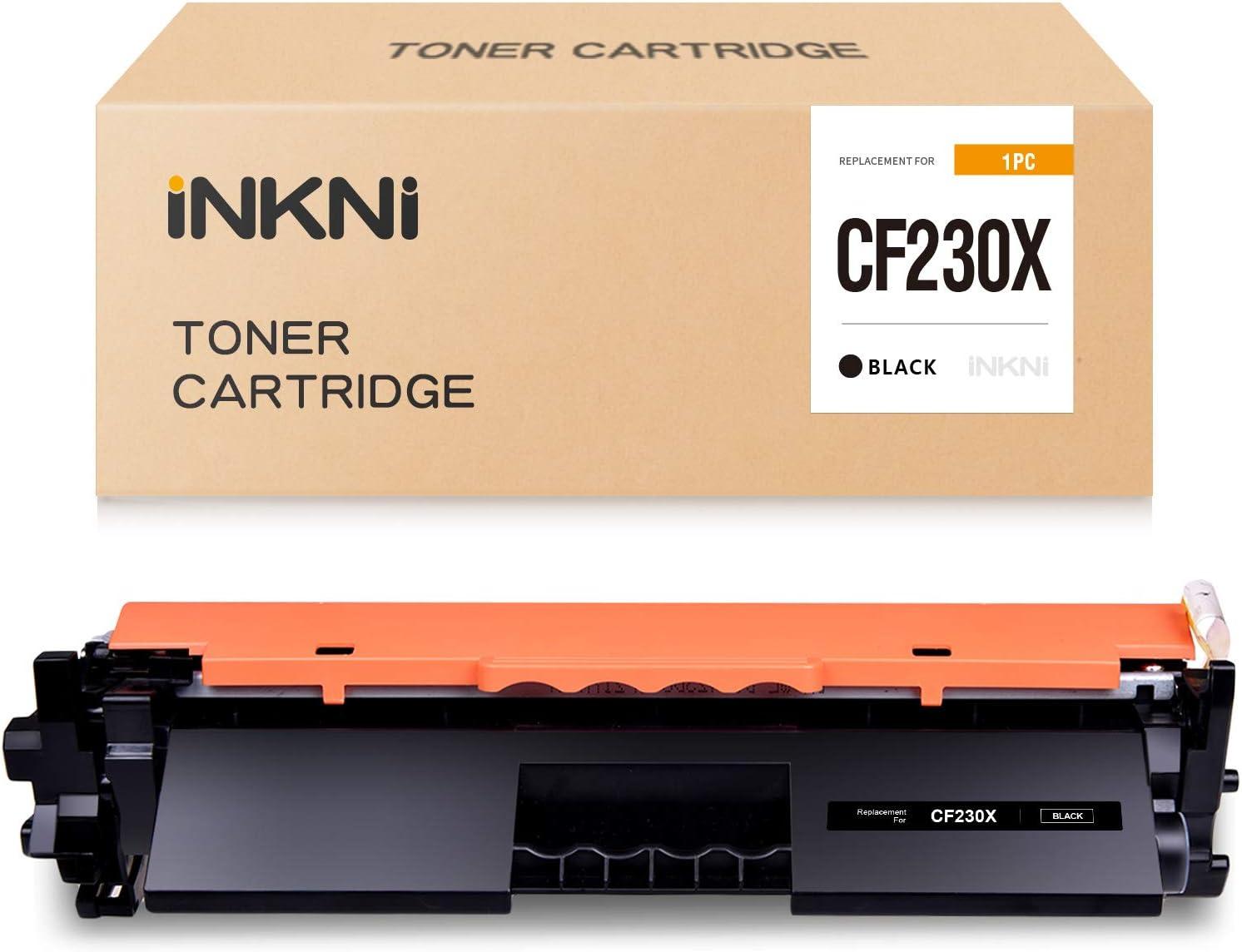 INKNI Compatible Toner Cartridge Replacement for HP 30A 30X CF230X CF-230X for Laserjet Pro MFP M227fdw M203dw M227fdn M203d M203dn M227sdn M227d Printer (Black, 1 Pack)