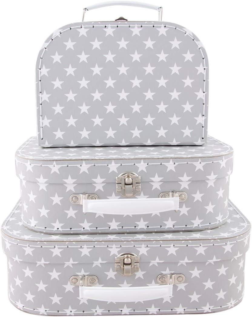 Sass & Belle by RJB Stone–Maletín, maleta con ruedas –Set de 3maletas con estampado de estrellas
