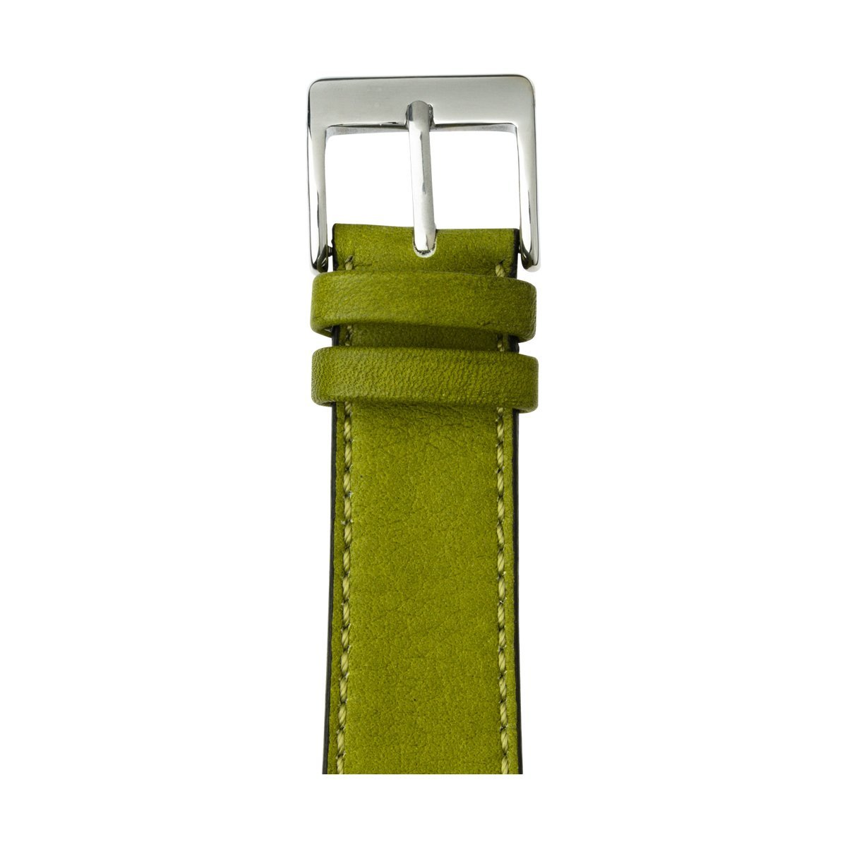 Roobaya | Premium Sauvage Leather Apple Watch Band in Moss Green | Includes Adapters matching the Color of the Apple Watch, Case Color:Stainless Steel, Size:42 mm