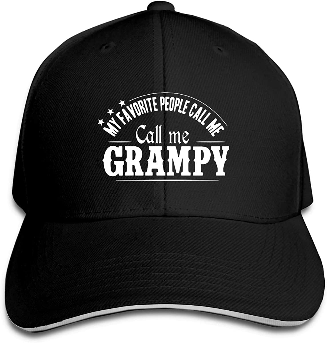 My Favorite People Call Me Grampy Unisex Washed Baseball Cap Classic Dad Hat Adjustable Trucker Hat Black