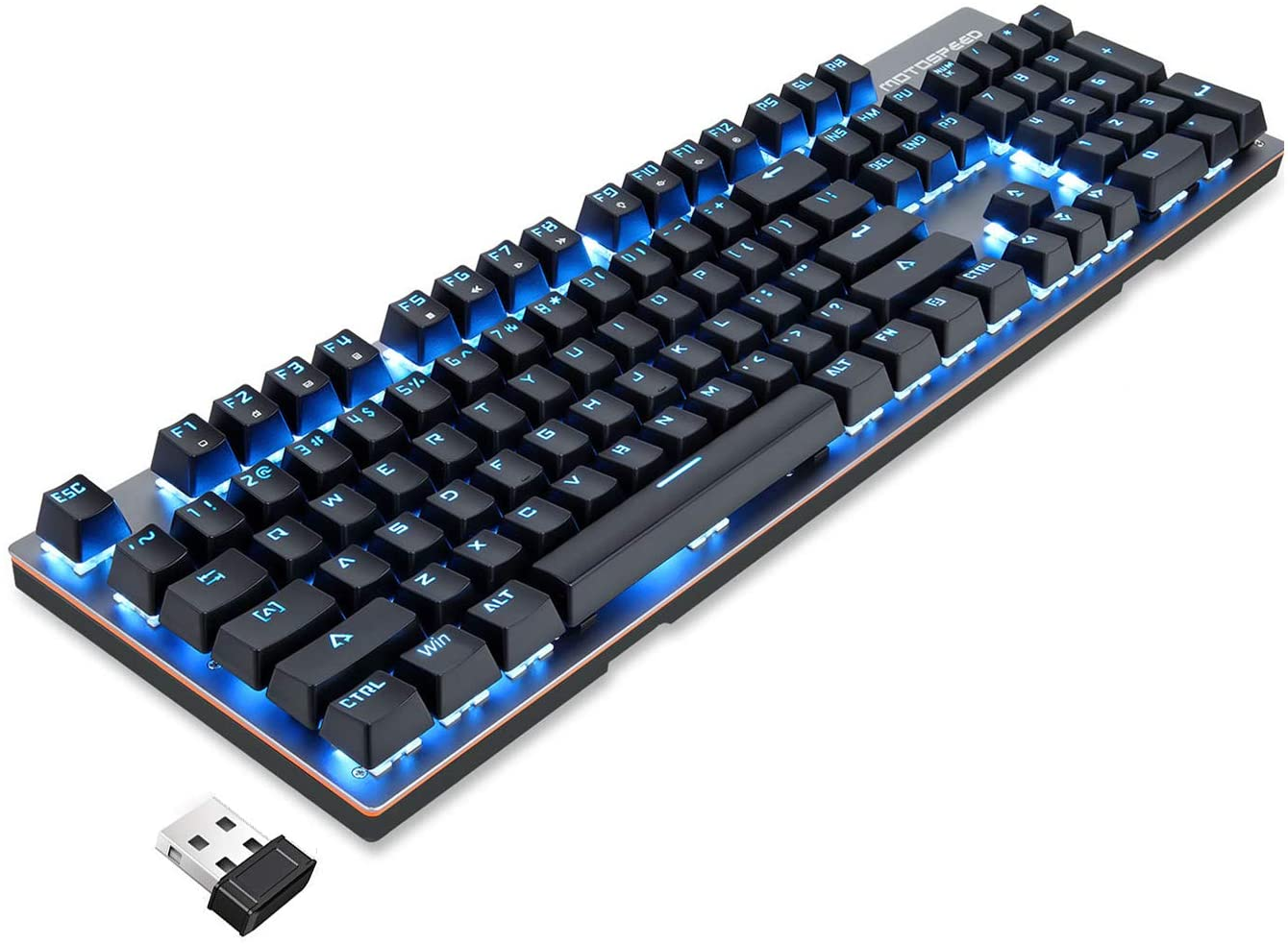 teclado mecanico inalambrico MOTOSPEED 2.4GHz blue switch