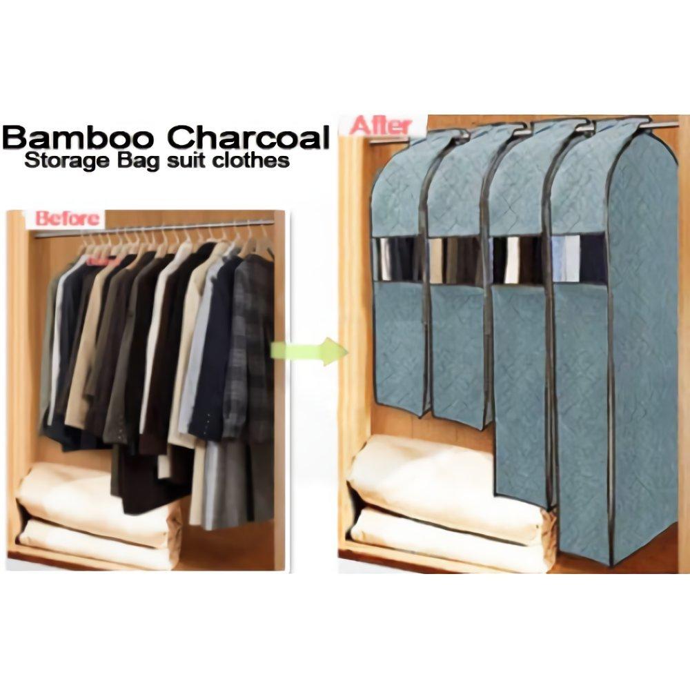 Organizzatore armadio porta abiti Porta abiti da viaggio BAMBOO CHARCOAL MEDIA WAVE store ® (s)
