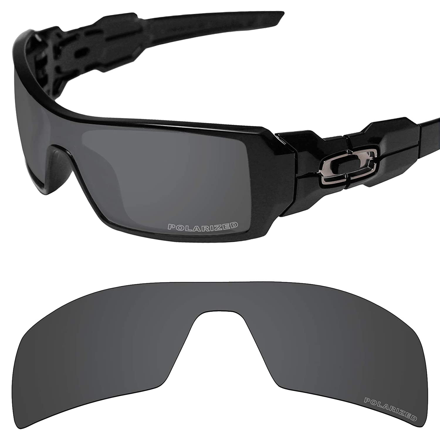 17651d895 Amazon.com: Tintart Performance Lenses Compatible with Oakley Oil Rig  Polarized Etched-Carbon Black: Clothing