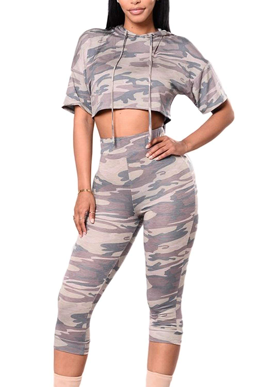 Ropa Casual Mujer 2 Pedazos Set Pantalones Único Y Hoodie ...