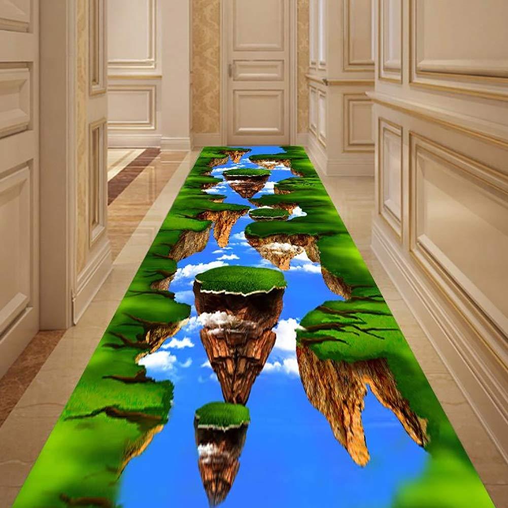 GuoWei-じゅうたん 廊下敷きカーペッ エントランス 屋内 現代の 3D パターン 滑り止め カスタマイズ可能 複数のサイズ (色 : A, サイズ さいず : 1x10m) 1x10m A B07PQL1Y5N