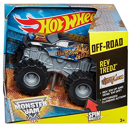 Hot Wheels Monster Jam Rev Tredz Iron Outlaw Truck