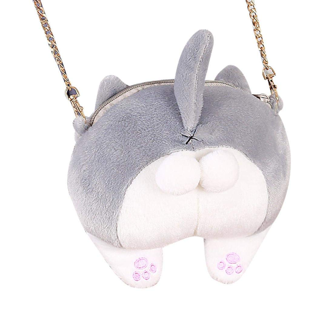 Covermason Katze Butt Plüsch Crossbody Umhängetaschen Handtasche