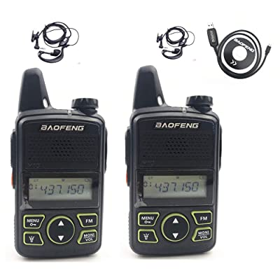 BAOFENG Original BF-T1 Mini Walkie Talkie UHF 400-470mhz Portable Two Way Radio (1 Pair): Computers & Accessories