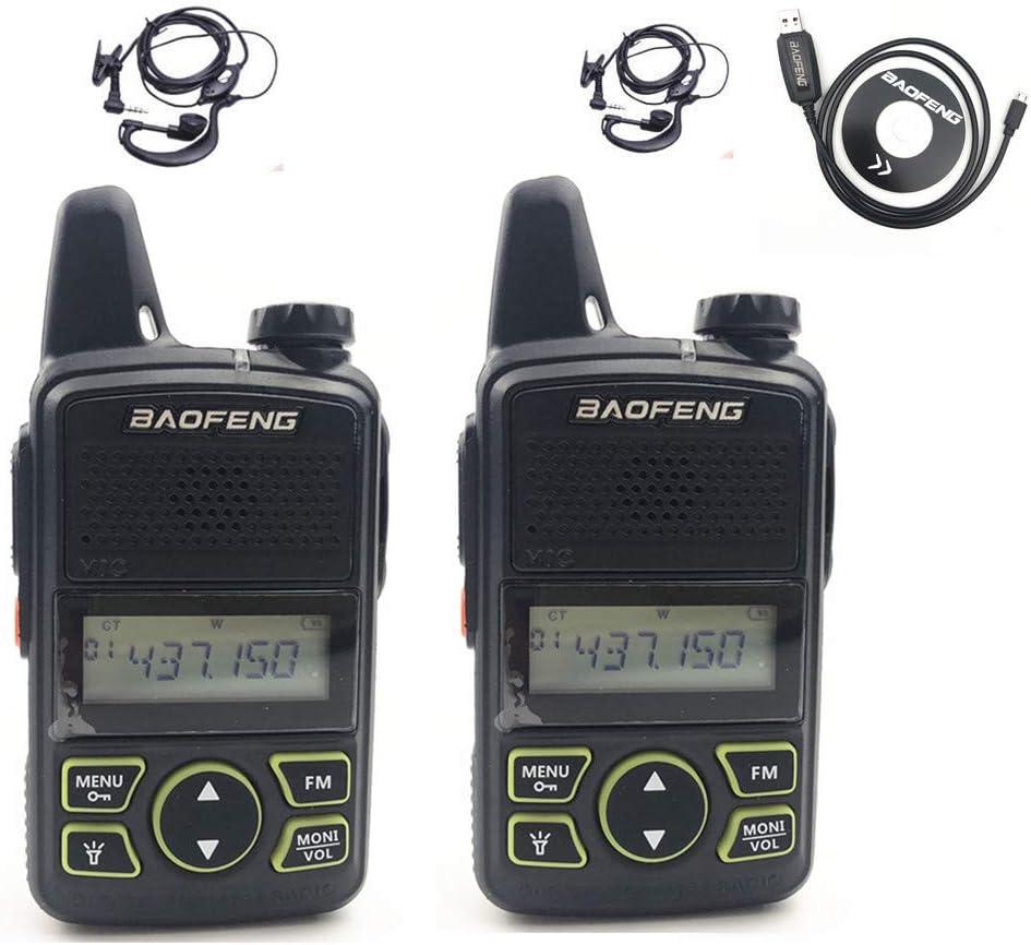 BAOFENG Original BF-T1 Mini Walkie Talkie UHF 400-470mhz Portable Two Way Radio (1 Pair)