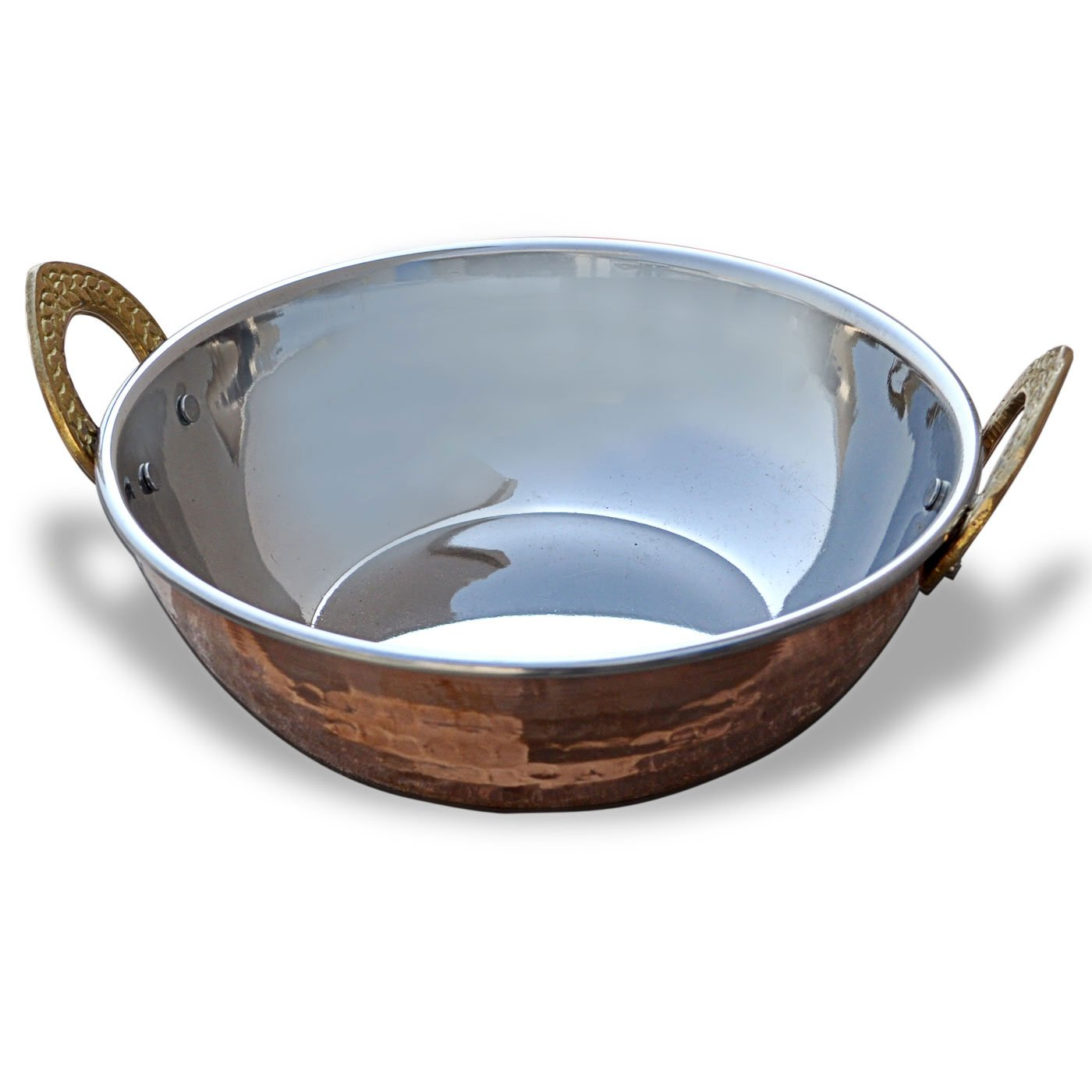 Indian Copperware Serving Karahi Handmade Tableware Pan: Amazon.co.uk:  Kitchen U0026 Home