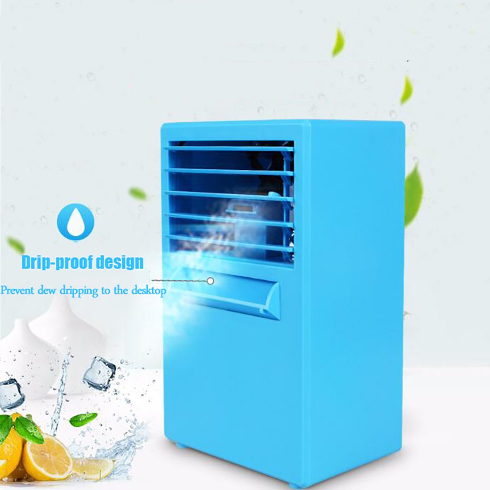 JiaQi Mini Air Conditioning,Desktop Air Conditioner,Humidifier Personal Space Cooler Usb Outdoor Camping Office-White 14.5x10x25cm(6x4x10inch) by JiaQi (Image #6)