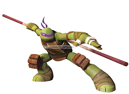 10 don donnie donatello bo staff purple turtle tmnt teenage mutant ninja turtles movie removable