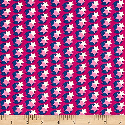 FreeSpirit Fabrics Heather Bailey Hello Love Pop Star Violet Fabric by The Yard