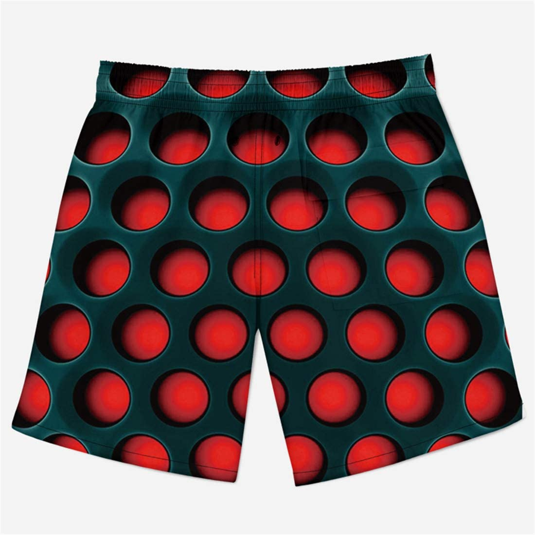 Mens 3D Printed Tie Dye Creative Funny Swim Trunks with Pockets Long Elastic Waistband