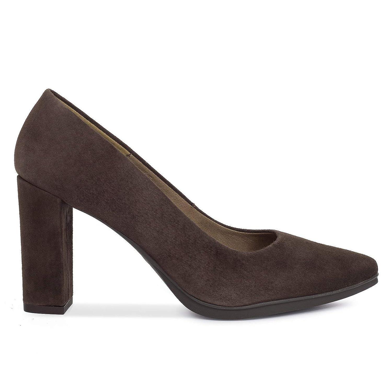 Zapatos Salón. Zapatos Piel Mujer Hechos EN ESPAÑA. Zapatos Tacón Caoba. Zapato Mimao. Zapatos Mujer Tacón. Zapatos Mujer Fiesta y Baile Latino. Zapato Cómodo Mujer con Plantilla Confort Gel