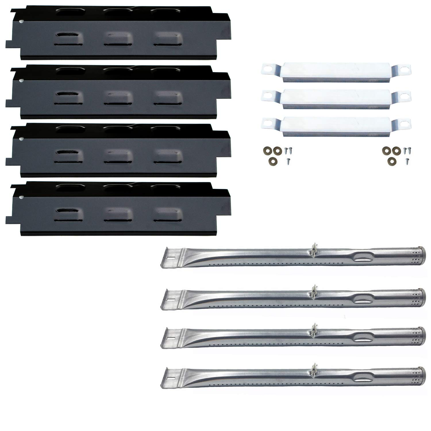 Direct Store Parts Kit DG259 Replacement Charbroil Grill 463436213,463436215; Thermos 466360113 Repair Kit (SS Burner + SS Carry-Over Tubes + Porcelain Steel Heat Plate) by Direct Store