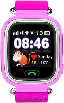 Teckey Q70 reloj inteligente niño kid smartwatch smartphone detección de posición función SOS tarjeta sim teléfono para hijos (Rosa): Amazon.es: Electrónica
