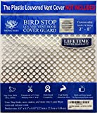 """New Aroma Trees Dryer Vent Bird Stop - Dryer Vent Grill - Pest Guard - Stops Birds Nesting In Dryer Vents and Bathroom Exhaust Vents Pipe, Customizable 3"""" - 8"""" Louver Vent Hood Cover Guard"""