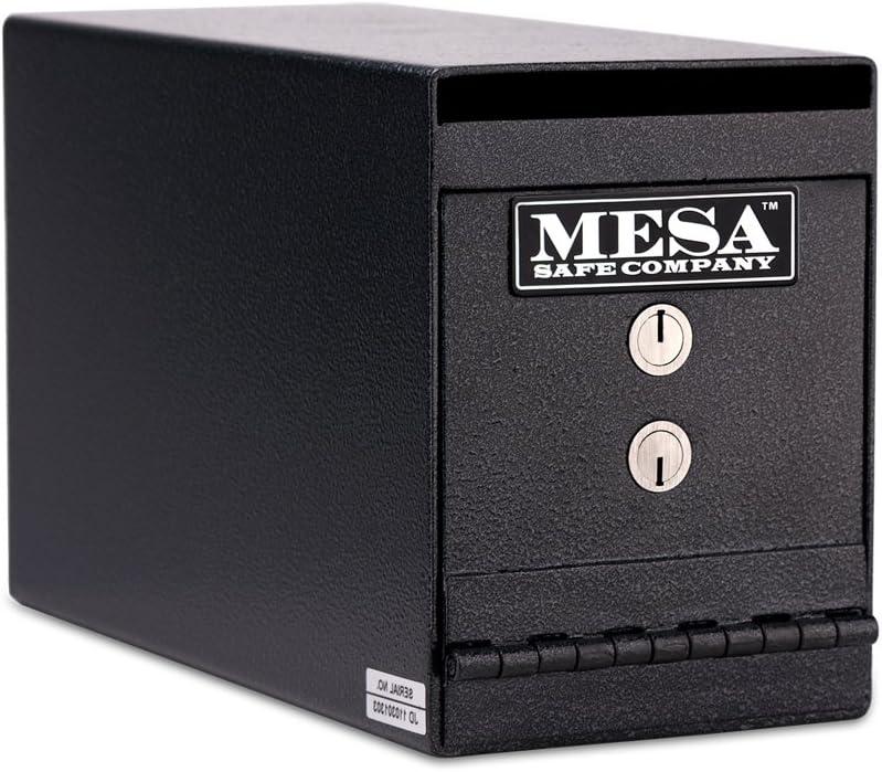 Mesa Safe Company Model Muc2K Undercounter Depository Safe mit Dual Schlüssel Lock, Dark Gray