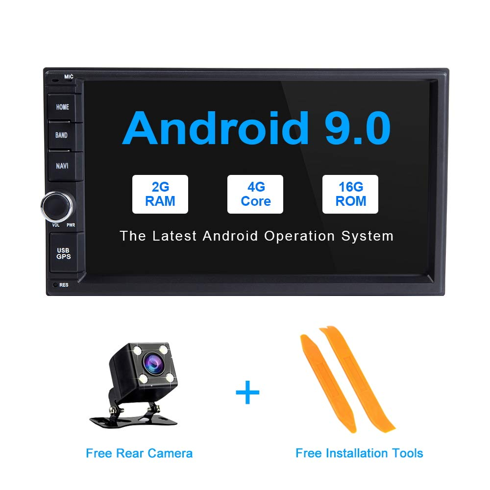 TOOPAI 2 Din Android 9.0 Universal Car Stereo Radio for Nissan Qashqai X-Trail Almera Note Juke with 7 Inch Touch Screen Bluetooth GPS Navigation Support WiFi Mirror Link AUX Backup Camera