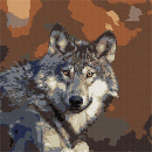 Wolf Needlepoint Kit (Gray Wolf Needlepoint Kit)