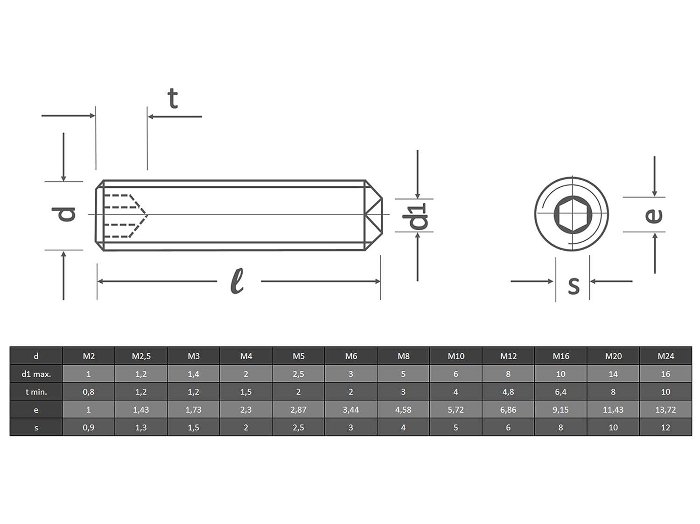 OPIOL QUALITY Sechskantschrauben M8x60 aus rostfreiem Edelstahl A2 Vollgewinde rostfrei/Stellschrauben/Maschinenschrauben/Gewindeschrauben Sechskant-Schrauben 10 St/ück