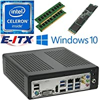 E-ITX ITX350 Asrock H270M-ITX-AC Intel Celeron G3930 (Kaby Lake) Mini-ITX System , 32GB Dual Channel DDR4, 120GB M.2 SSD, WiFi, Bluetooth, Window 10 Pro Installed & Configured by E-ITX