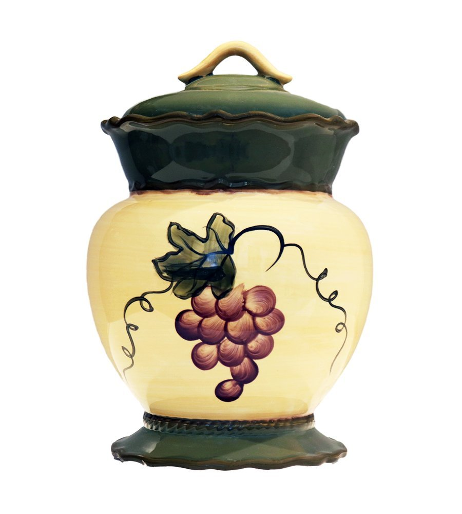 Tuscany Garden Collection, Ceramic Grape Cookie Jar
