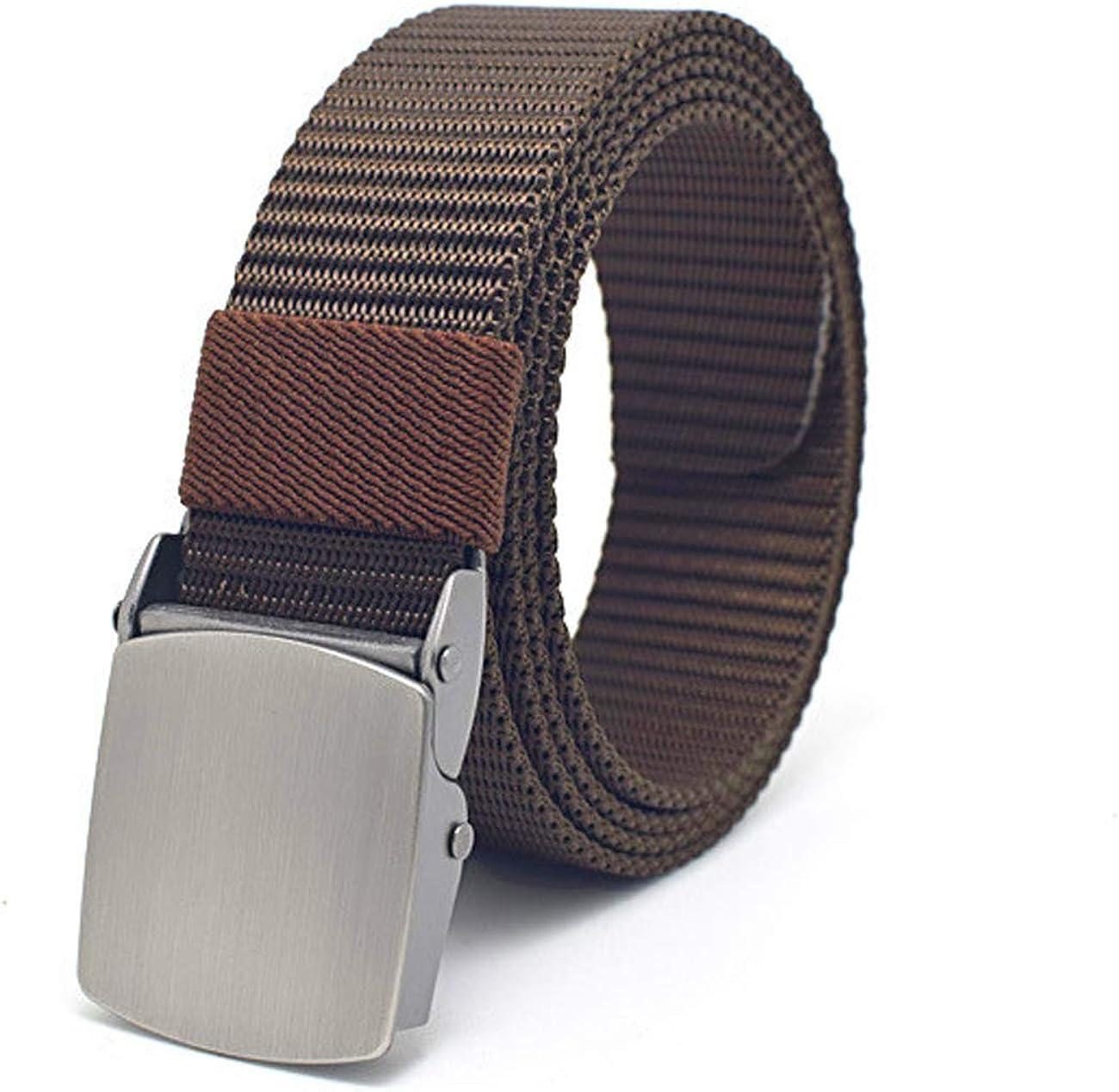 FUREIN Cintur/ón T/áctico Militar Ajustable para Hombre y Mujer Unisex Largo Recortable Lona Nylon con Hebilla Cl/ásica