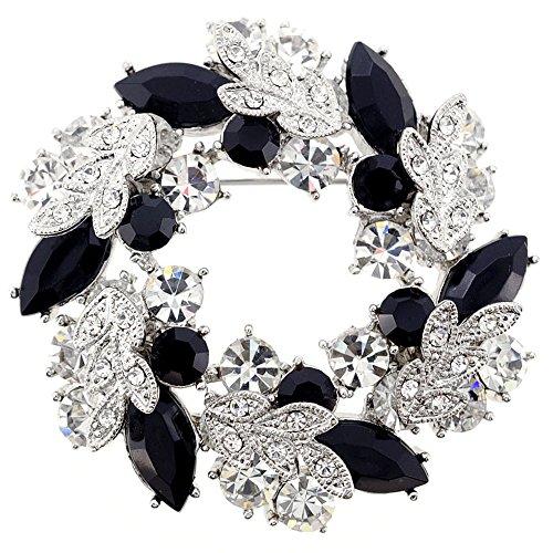 - Fantasyard Black Chrome Wreath Pin Brooch Pendant