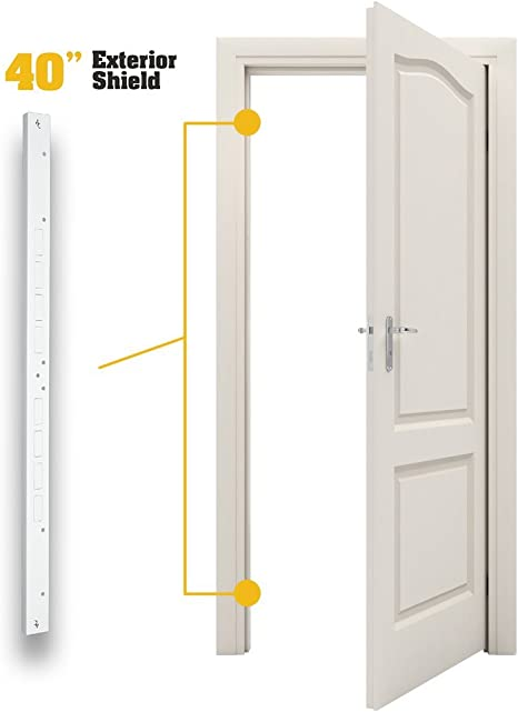White Fix-A-Jamb Door Jamb Security Reinforcement and Frame Repair Kit for Exteriors