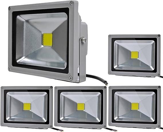6X 200W LED Fluter Strahler Scheinwerfer Außen Flutlicht Gartenlampe Kaltweis