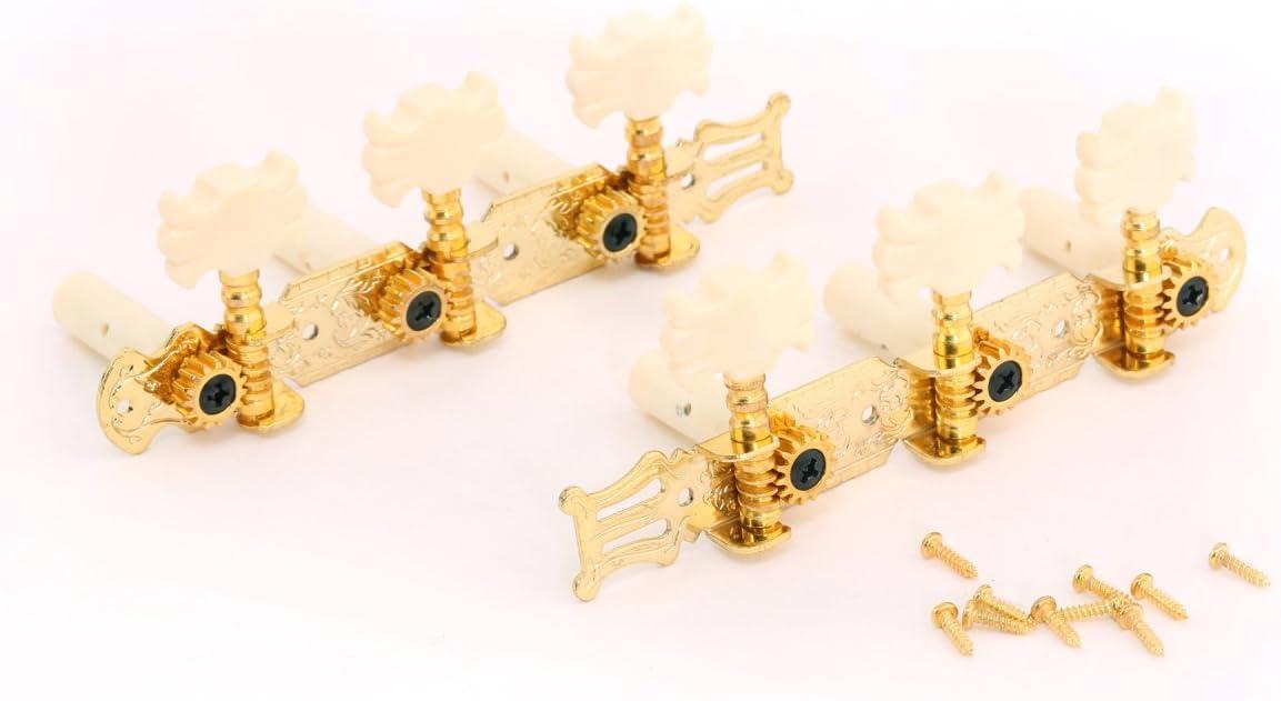 Musiclily 3+3 Clavijas de Afinación Clavijero de Repuesto para Guitarra Clásica, Oro