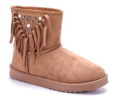 Schuhtempel24 Damen Schuhe Winterstiefeletten Stiefel Boots